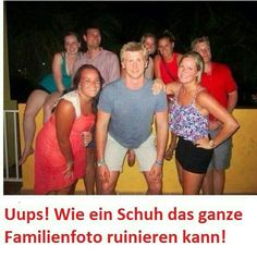 Uups How a shoe can ruin the whole family photo!
