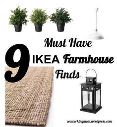 Farmhouse Decor on a budget - from Ikea! #rustichomedecor