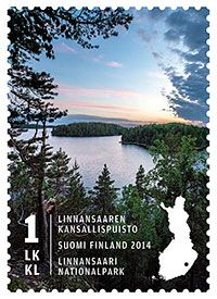 Linnansaaren kansallispuiston postimerkki 2014
