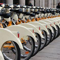 Bike station in Milan