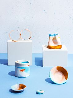 KLEIN&SCHÖN – A new range of handcrafted polymer vessels and accessories by Melbourne maker Genevieve Bryce-Stenzel. Styling – Nat Turnbull, photo – Elise Wilken for thedesignfiles.net