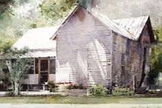 Buy online, view images and see past prices for Dean Mitchell - Clapboard House. Invaluable is the world& largest marketplace for art, antiques, and collectibles. Watercolor Drawing, Watercolor Artists, Watercolor Landscape, Landscape Paintings, Watercolor Paintings, Original Paintings, Watercolors, House Paintings, Landscapes