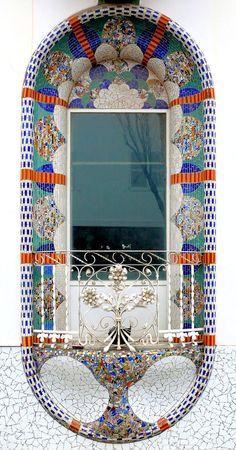 balcony in Barcelona - Dominics 026 g Casa, 1914, Architect: Eusebi Climent i Viñolas (by Arnim Schulz)