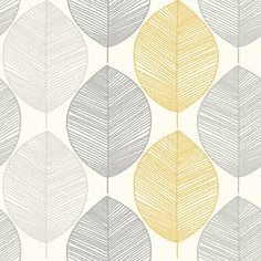 Arthouse Scandi Leaf Yellow Wallpaper Home Deco Arthouse bold print wallpaper bedroom leaf Scandi wallpaper Yellow Damask Wallpaper, Glitter Wallpaper, Geometric Wallpaper, Wallpaper Roll, Wall Wallpaper, Pattern Wallpaper, Scandi Wallpaper, Yellow Grey Wallpaper, Cloakroom Wallpaper
