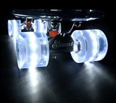 """The Sunset """"Ghost"""" .Float down the street on all-white Flare LED Wheels and freak out your friends with the clear and glassy Sunset """"Ghost!"""""""