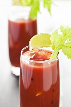 Classic Bloody Mary- Ingredients  1 quart tomato juice,  1 cup vodka,  1 tablespoon Worcestershire sauce,  1 tablespoon fresh lime juice,  1/2 teaspoon Original TABASCO® brand Pepper Sauce,  Lime slices or celery stalks,  Preparation -Combine tomato juice, odka, Worcestershire sauce, lime juice, and TABASCO® Sauce in a 2-quart pitcher; stir well. Serve over ice. Garnish with lime or celery.  Makes 6 (6-ounce) servings.