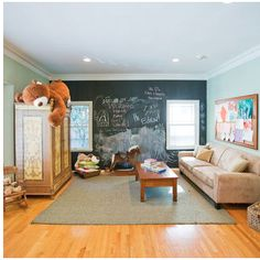 Layout and/or paint for playroom