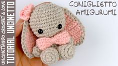 Amigurumi Bunny - Crochet Tutorial (subtitles in English and Spanish) Bunny Crochet, Crochet Santa, Crochet Bows, Crochet Elephant, Love Crochet, Easy Crochet, Crochet Tutorial, Amigurumi Tutorial, Hello Kitty Amigurumi