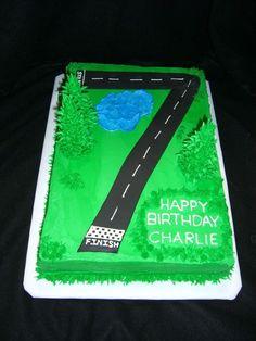 7 Year Old Racing Birthday Cake
