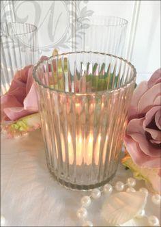 Set-of-6-Glass-Ribbed-Votive-Tea-Light-Candle-Holder-Wedding-Decoration