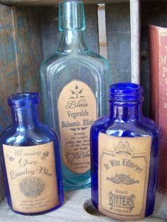vintage medicine bottle labels
