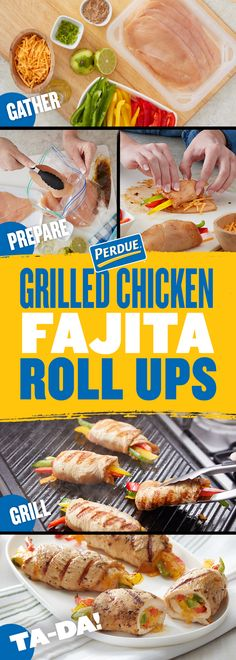 Impress everyone at your cookout with this grilling season's must-have: Grilled Chicken Fajita Roll Ups! Impress everyone at your cookout with this grilling season's must-have: Grilled Chicken Fajita Roll Ups! Grilled Veggies, Grilled Chicken Recipes, Grilled Meat, Mexican Food Recipes, Keto Recipes, Cooking Recipes, Kraft Recipes, Chicken Roll Ups, Roll Ups Recipes