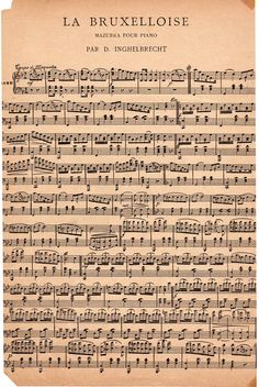 Old sheet music - Free printable