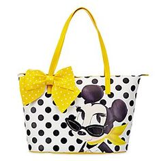 Minnie Mouse Signature Tote | Disney Store Minnie's poised for a maximum day at the mall on this posh faux leather tote in playful polka dots. It carries all your  essentials with ease in signature style.