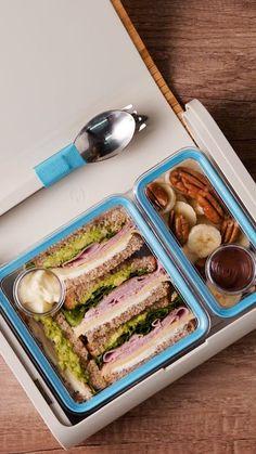 Lunchbox Sandwich + Postre - No existe una caja de sorpresas más deliciosa que ésta Effektive Bilder, die wir über decorating - Clean Eating Snacks, Cheap Clean Eating, Healthy Eating, Healthy Meal Prep, Healthy Snacks, Healthy Recipes, Lunchbox Kind, Healthy School Lunches, Healthy Sandwiches