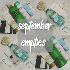 September Empties are live on the blog. Link is in my bio