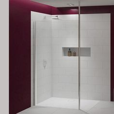 The Merlyn 8 Series Shower Wall With Vertical Post is a stylish yet functional design and offers an elegant walk in shower design. Optional shower tray available. Shower Taps, Shower Enclosure, Glass Shower, Shower Doors, Power Shower, Bath Screens, Contemporary Shower, Walk In Shower Designs, Victorian Bathroom