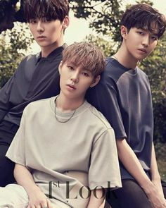 Minhyun, Sungwoon and Jaehwan (Wanna One)