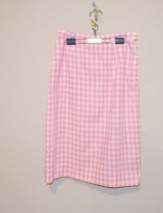 Vintage 1950's Pink Gingham Pencil Skirt by CheekyVintageCloset on Etsy