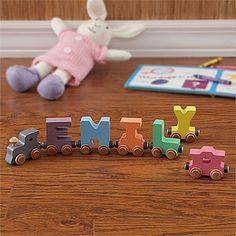 Pastel Name Personalized Train- 7 Letter