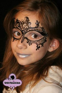 You can paint your face instead of wearing a mask at your masquerade - Venetian Carnival theme party!