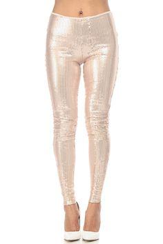 Blush Shimmery Sequin Leggings