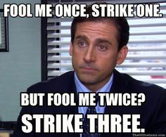 Most memorable quotes from Michael Scott, a movie based on film. Find important Michael Scott Quotes from film. Michael Scott Quotes about life in the Dunder Mifflin paper company. Fool Me Once, The Fool, Funny Quotes, Funny Memes, Hilarious, Memes Humor, Best Office Quotes, Funny Office Quotes, Office Jokes