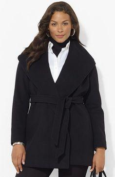 Lauren Ralph Lauren Hooded Wrap Coat (Plus Size) available at #Nordstrom