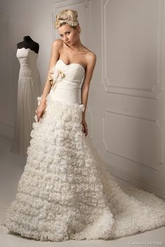 Capelli Couture 2013 Bridal Collection - Liliana Strapless, Ruffle Skirt Wedding Dress