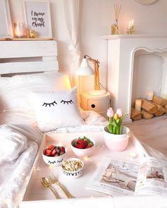 Romantic decoration in a small apartment of Small Apartment Design, Small Apartments, Long Room, Tumblr Rooms, Flat Ideas, Interior Decorating, Interior Design, Comfortable Sofa, White Furniture