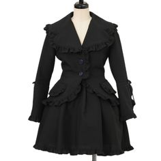 Moi-meme-Moitie Ruffled Jacket & Skirt (used, defects on upper middle of skirt, look somewhat used), can buy direct from Japan.