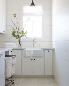 """Jaimee Rose Interiors on Instagram: """"Let there always be light. This project is featured in the new issue of @phoenixhomeandgarden magazine. We are so excited to share it and…"""" Laundry Room Bathroom, Laundry Rooms, Red Space, Area Rugs Cheap, Sink Design, White Countertops, Kitchen Curtains, Farmhouse Decor, Farm House"""