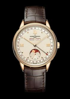Discover the Historiques Calendrier complet 1948 watch,reference piece of fine watchmaking by Vacheron Constantin. Elegant Watches, Stylish Watches, Luxury Watches, Cool Watches, Watches For Men, Men's Watches, Vacheron Constantin, High End Watches, Swiss Army Watches
