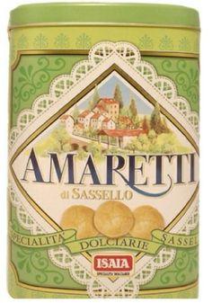 Scatola di latta Isaia Amaretti di Sassello specialità dolciarie