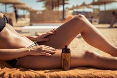 10 Self-Tanning Tips You've Never Heard Before - Sunless Tanner/Self-Tanner - Skin Care The Beauty Authority - NewBeauty Tanning Oil Homemade, Self Tanning Tips, Tanning Bed, Fake Tan, Dermal Fillers, Natural Oils, Sunscreen, Lotion, Soap Recipes