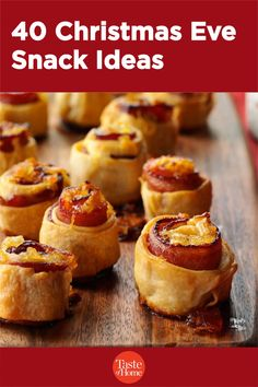 40 Christmas Eve Snack Ideas Pizza Appetizers, Holiday Appetizers, Appetizer Recipes, Snack Recipes, Its Christmas Eve, Christmas Snacks, Champion Chicken, Spiced Nuts, Chocolate Party