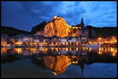 Belgium  Dinant: the Church at the Rock by *Nightcitylights on deviantART