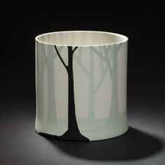 Pia Lund - silhouettes  I know this is a ceramic, but this concept might be cool to apply to lampshades--actual silhouettes between layers of material.