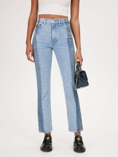 Latest Jeans, Chic Dress, Ankle Jeans, Reformation, Denim Fashion, Mom Jeans, Swimsuits, Stylish, Pants