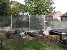 Bob Tanner's decking project with railway sleepers Photo 1