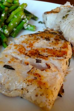 Lemon Rosemary Marinated Grilled Halibut