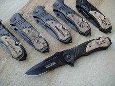 Personalized MTech Folding Knife, Personalized Pocket Knife, Custom Engraved Knife: Father's Day, Gift for Him, Groomsmen, Stocking Stuffer by EngraveMeThis on Etsy https://www.etsy.com/listing/166454328/personalized-mtech-folding-knife