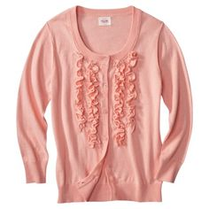 Mossimo Supply Co. Juniors Ruffle Cardigan - Assorted Colors   pink or grey...medium