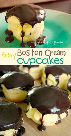 Look at these yummy cupcakes, and they seem pretty easy to make too!http://creativemeinspiredyou.com/easy-pie-boston-cream-pie-cupcakes/