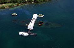 The USS Arizona Memorial, located at Pearl Harbor in Honolulu, Hawaii