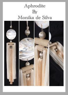 Mother of pearl and shagreen luxury tassel, available from Monika de Silva, www.mdsdesigns.co.uk