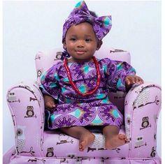 Attaché foulard gélé headwrap African little girl African baby Petite fille africaine Wax Pagne