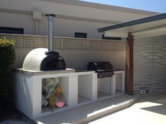 Remarkable Alfresco Kitchens Woodfired Pizza Ovens Qld Allfresco Home Modern Outdoor Oven Houses In California Society London Furniture Modern Furniture Outfitters Family Season 9 Interior Modern Outdoor Pizza Ovens, Outdoor Cooking Area, Pizza Oven Outdoor, Outdoor Kitchen Design, Outdoor Rooms, Outdoor Dining, Indoor Outdoor, Outdoor Kitchens, Woodfired Pizza Oven