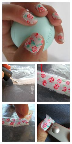 Diy Vintage Fl Nail Stickers