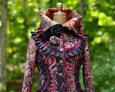 Aangepaste trui jas voor CJ. Boho fantasie kleding draagbare